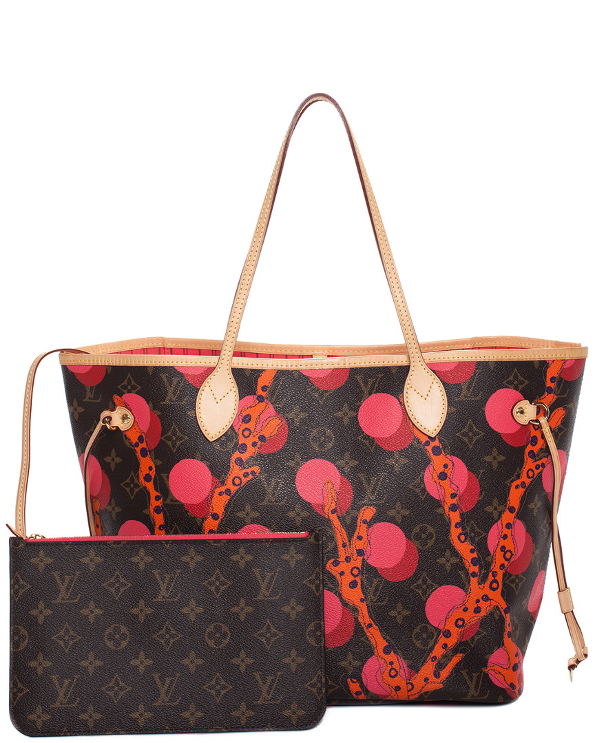 Limited Edition Monogram Canvas Ramages Neverfull Mm, Red