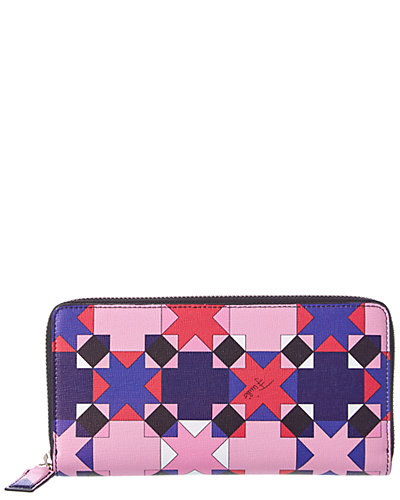 Emilio Pucci Monreale Saffiano Leather Zip Around Wallet
