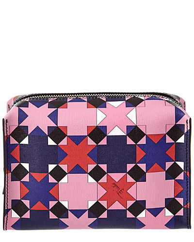 Emilio Pucci Monreale Saffiano Leather Cosmetic Bag