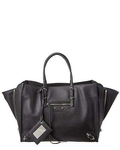 Balenciaga Papier B4 Zip Around Leather Crossbody