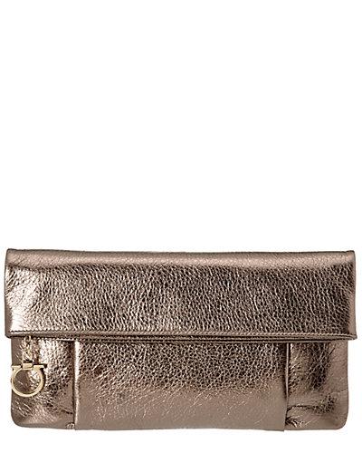 Salvatore Ferragamo Masa Leather Clutch