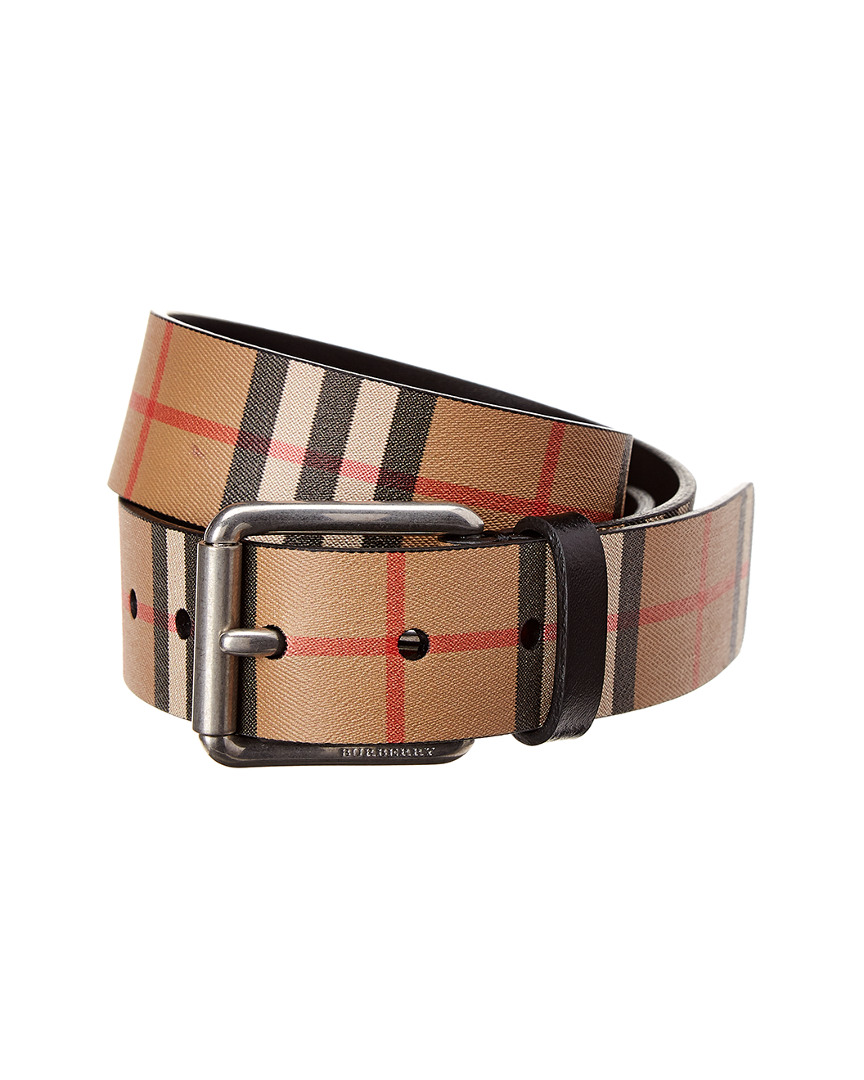 e14cc48d94f4 Burberry Vintage Check Leather Belt | eBay