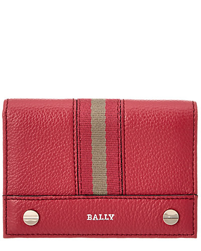 Bally Comier Stripes Leather Card Holder