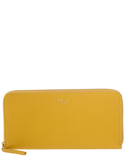 Mulberry 8 Card Zip Around Leather Wallet