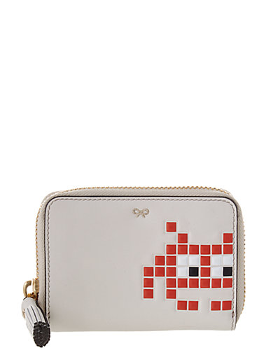 Anya Hindmarch Space Invaders Leather Zip Around Wallet