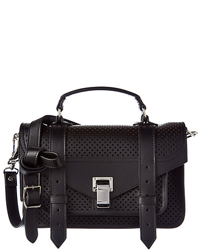 Proenza Schouler PS1 Tiny Perforated Leather Satchel