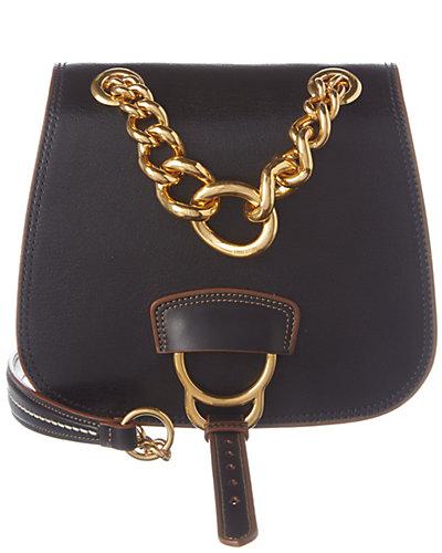 MIU MIU Dahlia Leather Saddle Bag