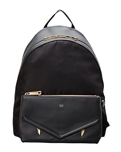 Fendi Monster Eyes Canvas & Leather Backpack by Fendi