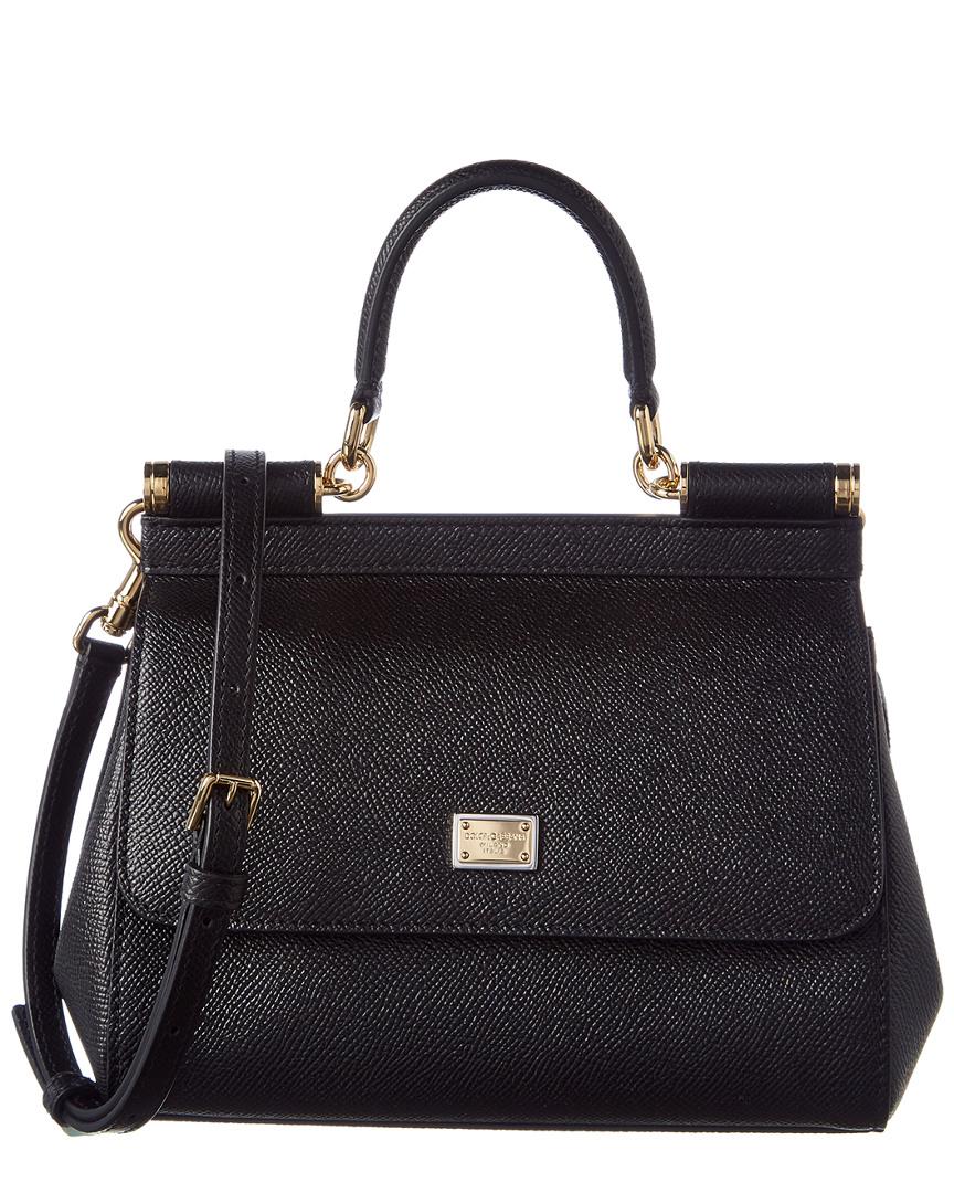 ba2fa4f7bf09 Dolce   Gabbana Sicily Small Leather Satchel