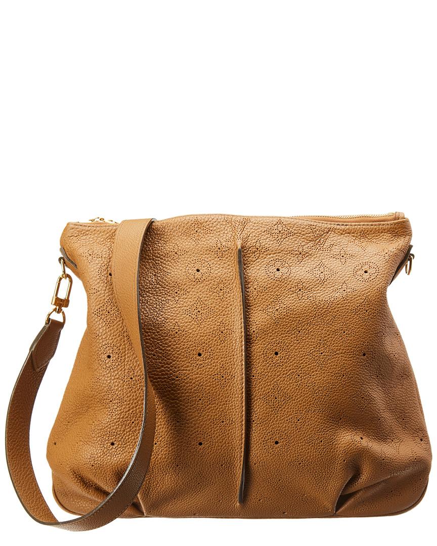 374e5c7a6a97 Louis Vuitton Brown Monogram Mahina Leather Selene Pm