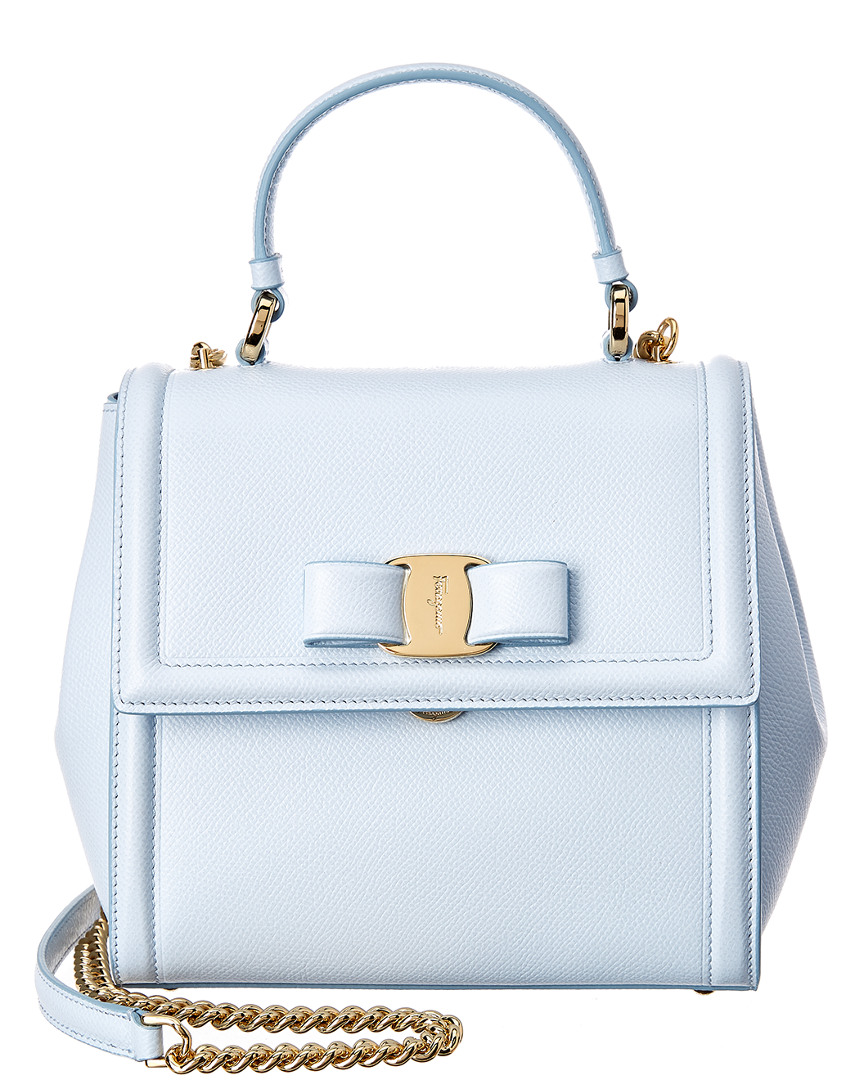Vara bow top handle bag - Blue Salvatore Ferragamo m3KUy