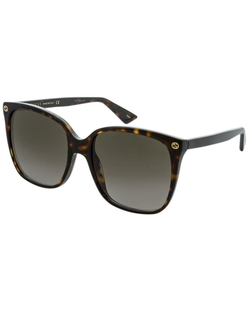 871b8c1d71b Gucci Womens Women s Gg0022s 57Mm Sunglasses 889652048147