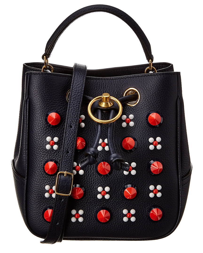 Image is loading Mulberry-Small-Hampstead-Conic-Studded-Leather-Crossbody -Blue a805d442417c0