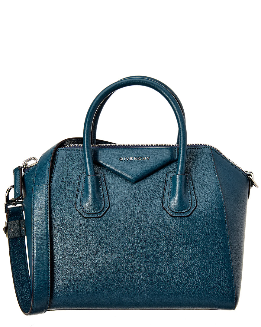SMALL ANTIGONA LEATHER SATCHEL