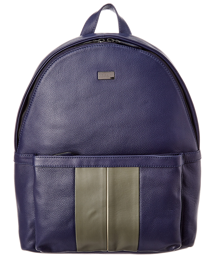 e0b565bb1ed6b Ted Baker Mens Striped Leather Backpack
