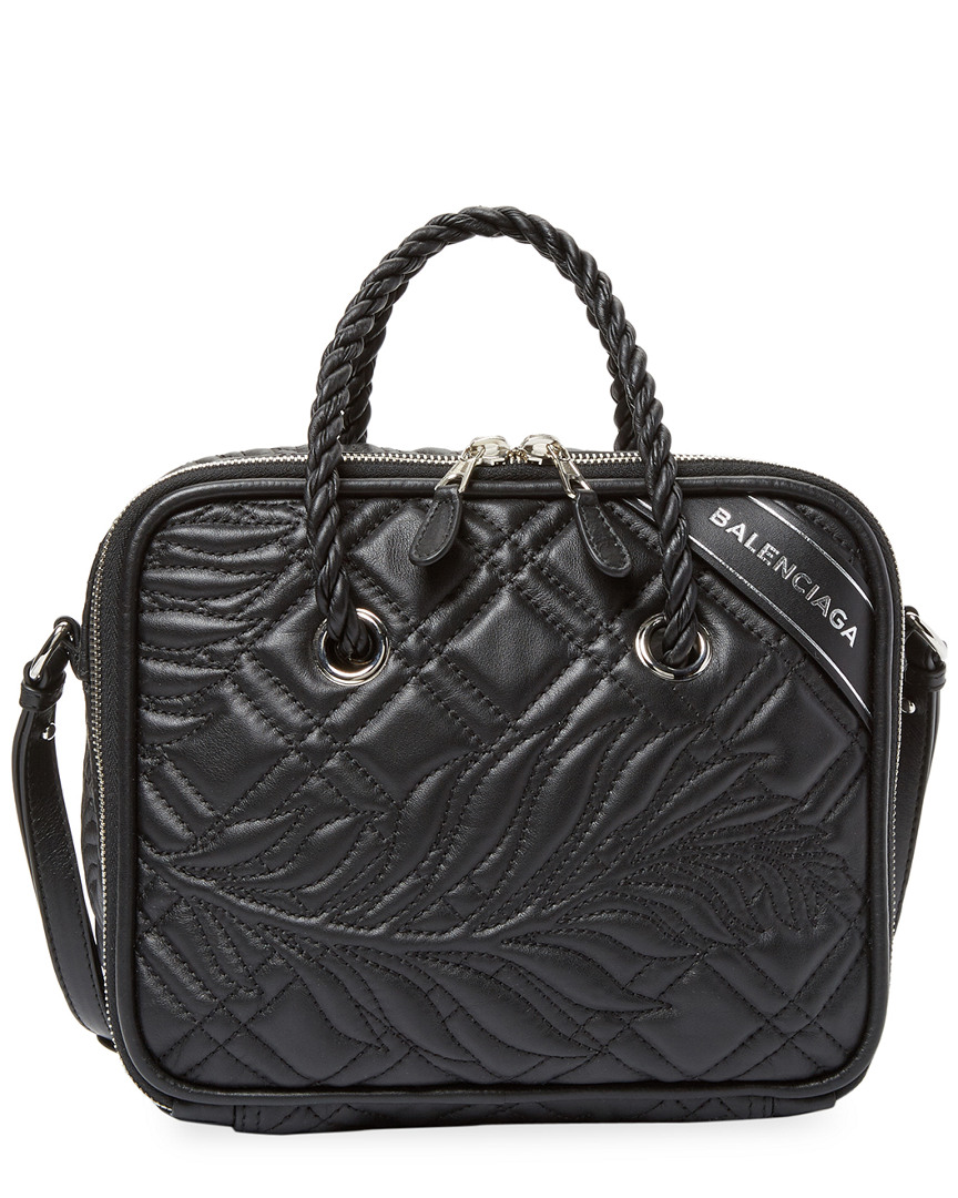 SMALL BLANKET SQUARE QUILTED LEATHER SATCHEL