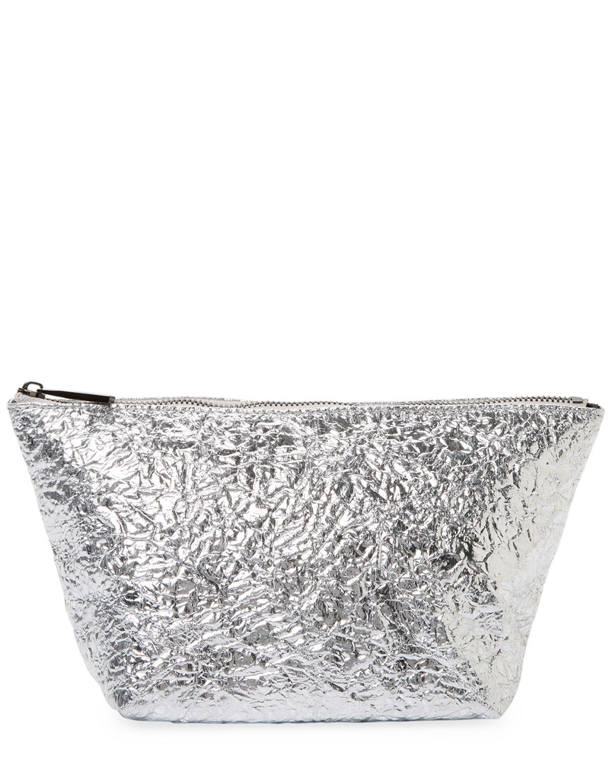 Deux Lux CRINKLE METALLIC COSMETIC BAG