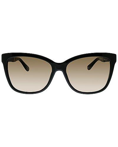 Jimmy Choo Women's Rectangular 56mm Sunglasses seen on The Wendy Williams Show