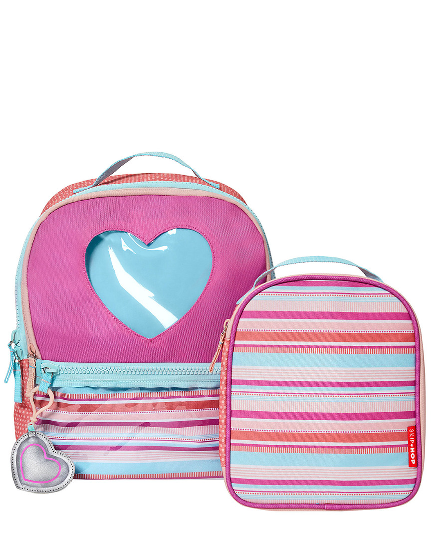HEART STRIPE BACKPACK & LUNCHIE