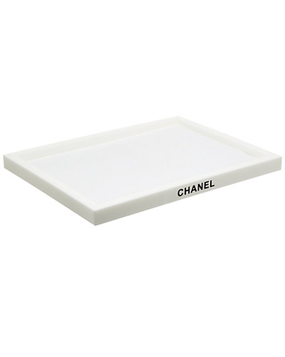 Chanel White Acrylic Tray by Chanel