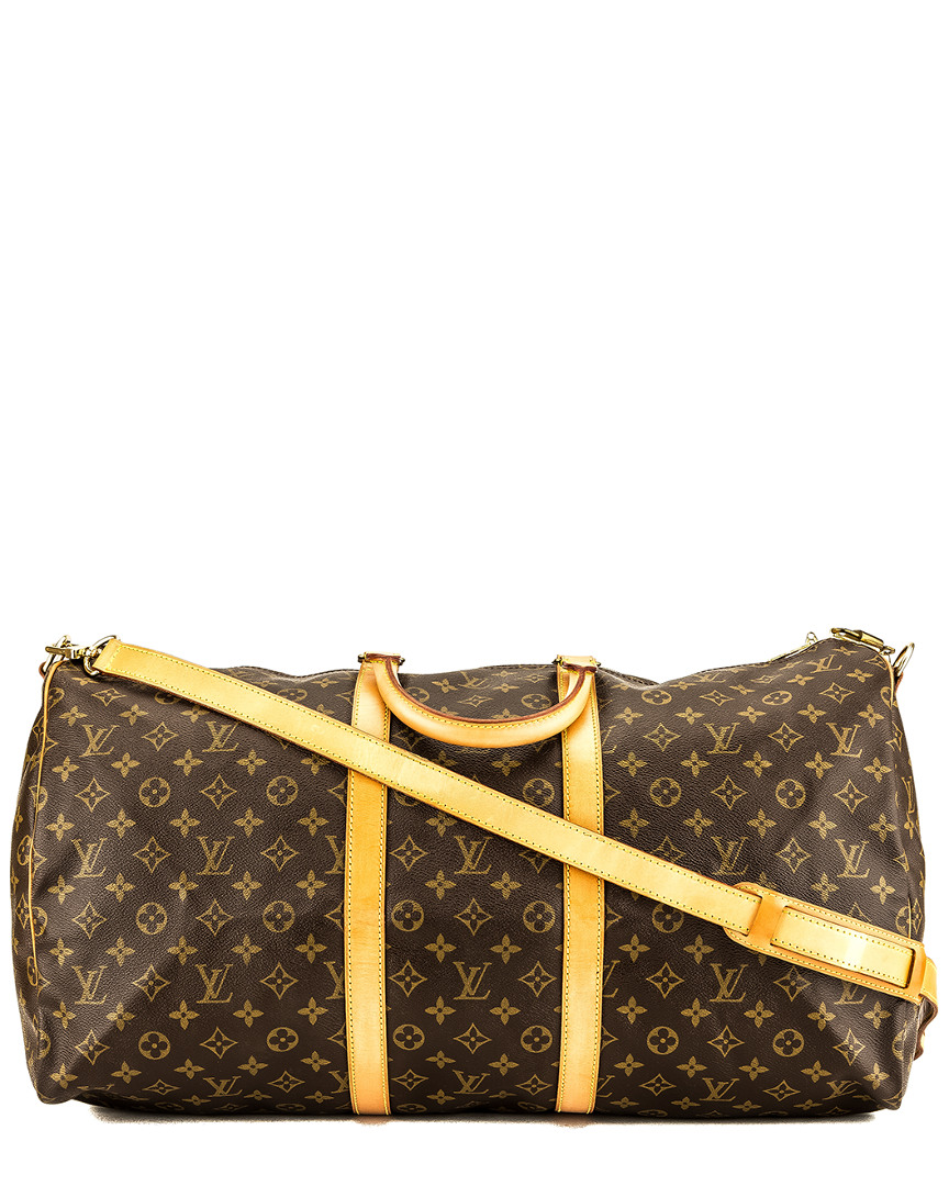 Louis Vuitton MONOGRAM CANVAS KEEPALL 55 BANDOULIERE