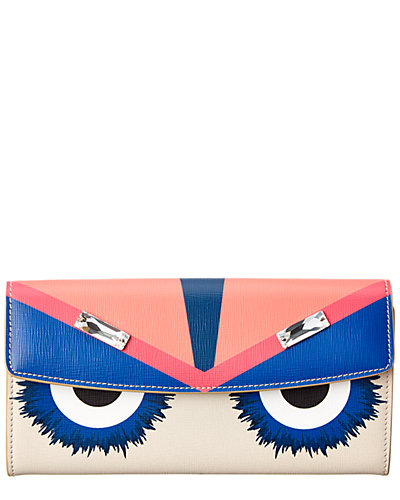 FENDI Bag Bugs Leather Continental Wallet