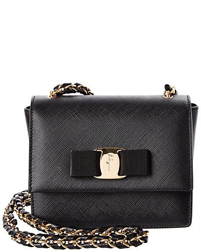Salvatore Ferragamo Ginny Mini Vara Leather Flap Bag
