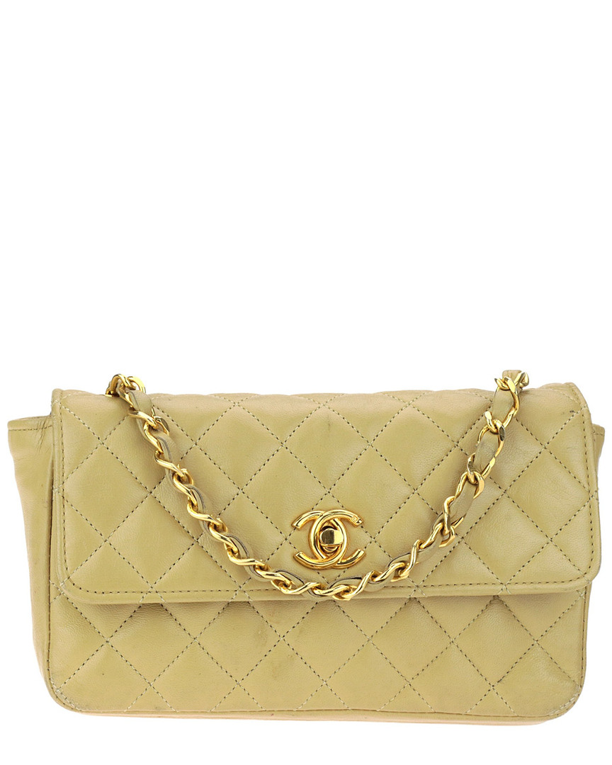 4ee666b61fc9 Chanel Vintage Camel Lambskin Leather Mini Single Flap Bag In Nocolor