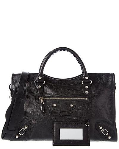 Balenciaga Giant 12 Silver City Medium Leather Shoulder Bag