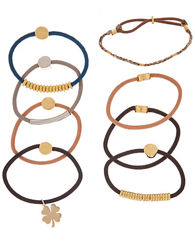 By Lilla 8pk Boho Chic Hair Tie Bracelets