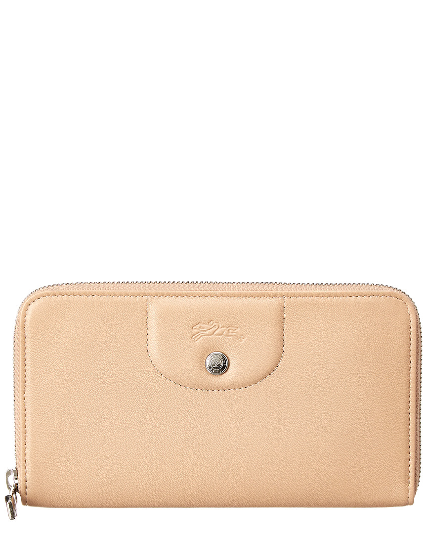 242b6d2d01 Longchamp Womens Le Pliage Cuir Leather Zip Around Wallet, Brown ...