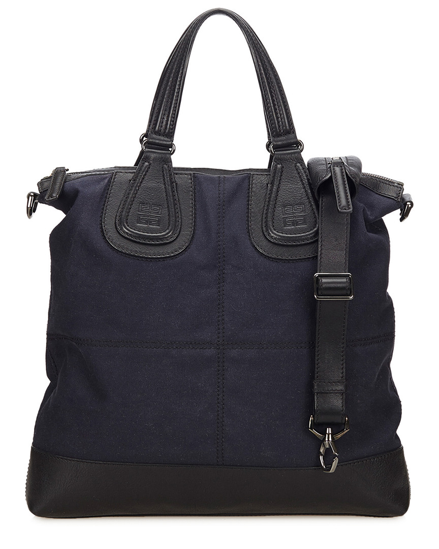 Dark Blue Canvas Nightingale Shopper Bag, Nocolor
