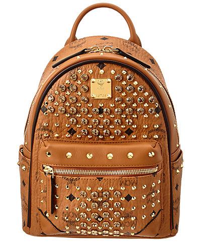 MCM Diamond Visetos Mini Canvas & Leather Backpack