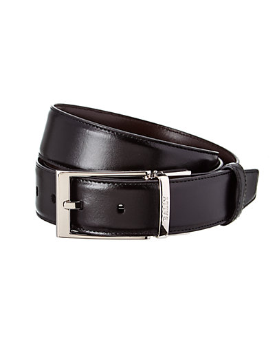 Bally Adjustable & Reversible Leather Belt with Gift Box