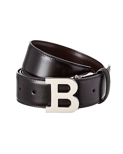 Bally B Buckle Adjustable & Reversible Leather Logo Belt