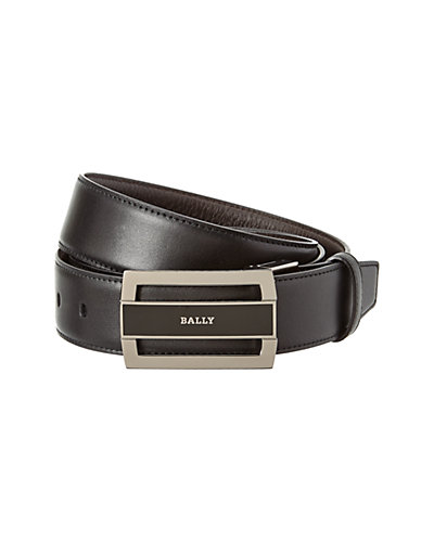 Bally Fabazia Reversible Leather Belt with Gift Box