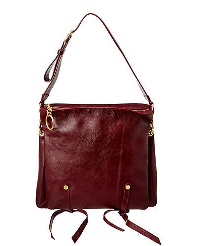 Jimmy Choo Mardy M Leather Shoulder Bag