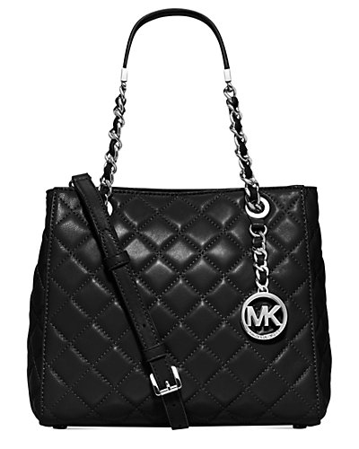 MICHAEL Michael Kors Susannah Small North South Quilted Leather Tote