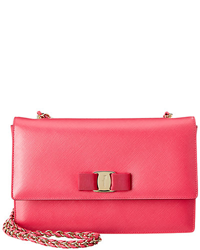 Salvatore Ferragamo Ginny Medium Vara Leather Flap Bag
