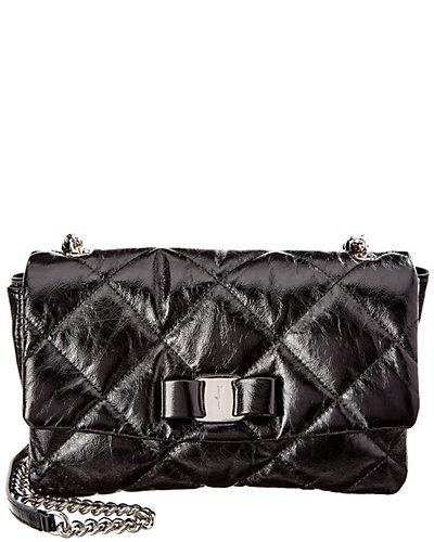 Salvatore Ferragamo Gelly Medium Quilted Leather Flap Bag