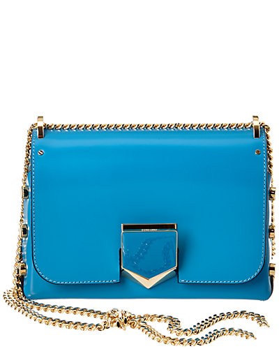 Jimmy Choo Lockett Petite Spazzolato Leather Shoulder Bag