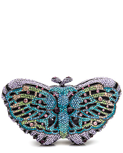 LuxMob Crystal Butterfly Clutch