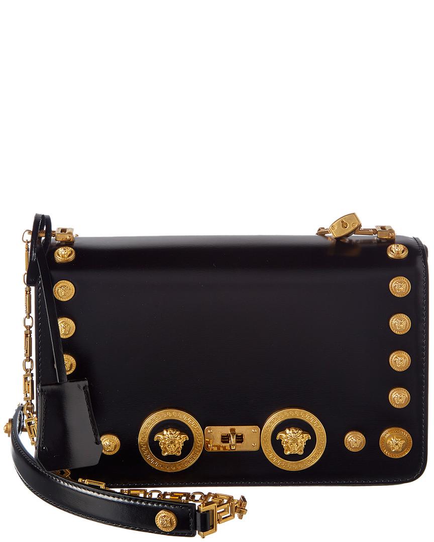 Versace Medusa Stud Icon Leather Shoulder Bag a70fda41d5b0e
