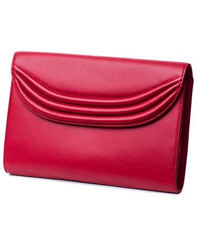 Lauren Cecchi Stretta  Leather Clutch
