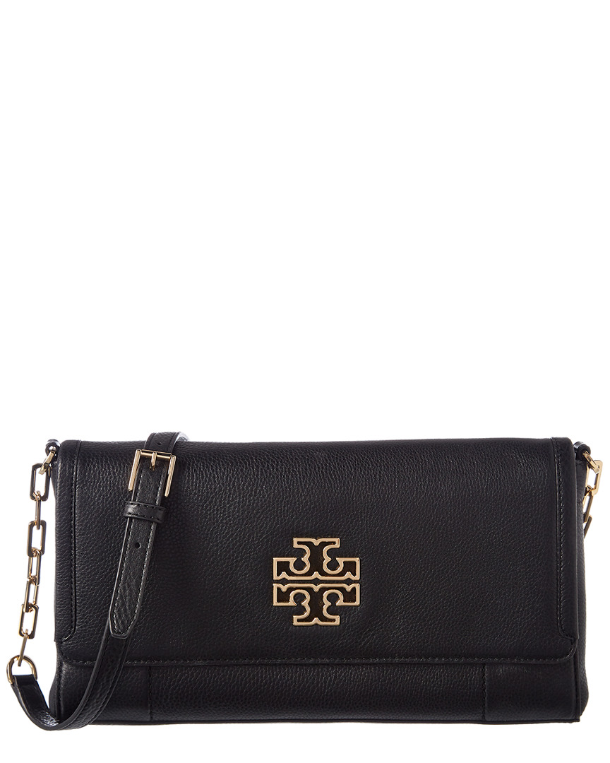3056927c4ca4 Tory Burch Britten Fold Over Leather Messenger Crossbody In Nocolor ...