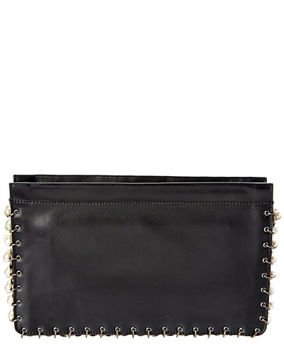 Dannijo Lenox Nero Leather Clutch