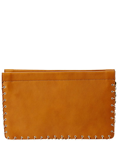 Dannijo Lenox Caramel Leather Clutch