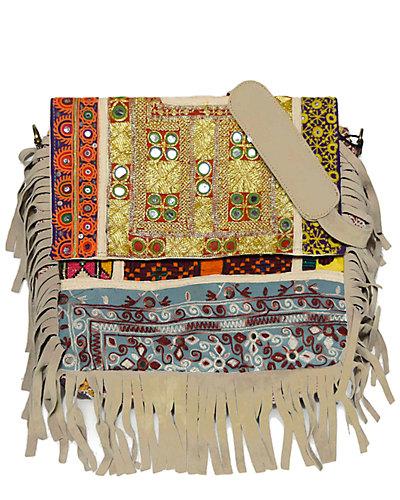 Vintage Addiction Boho Chic Fringed Messenger Bag