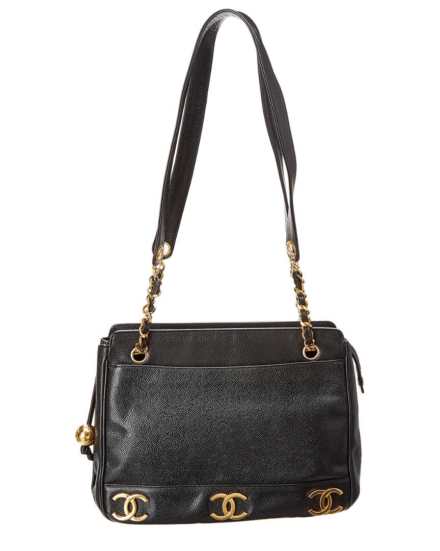 Chanel BLACK CAVIAR LEATHER MEDIUM 3CC TOTE