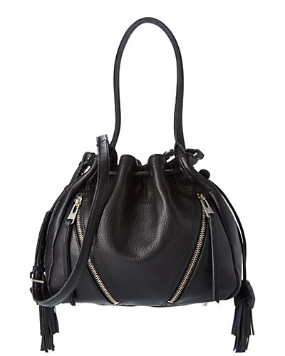 Linea Pelle Leather Drawstring Bag
